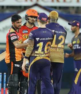 ipl cricket match kolkata knight riders and sunrisers hyderabad team