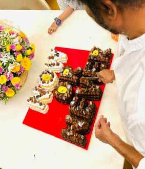 'Now or Never' - Rajinikanth cuts the cake!