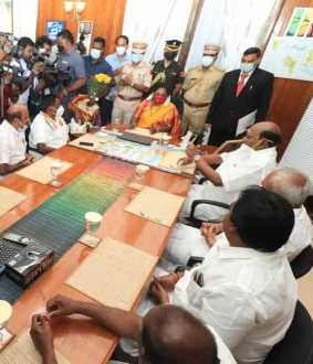 puducherry government governor tamilisai order cm narayanasamy