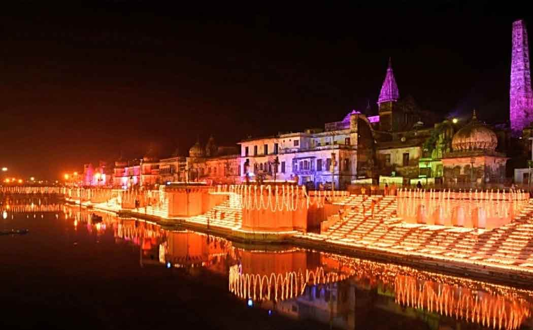 guinness world record attempt in ayodhya in diwali night