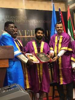 G.V.Prakash received doctorate for social service !!!