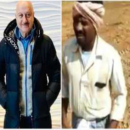 Anupam Kher shared the video of the singing farmer