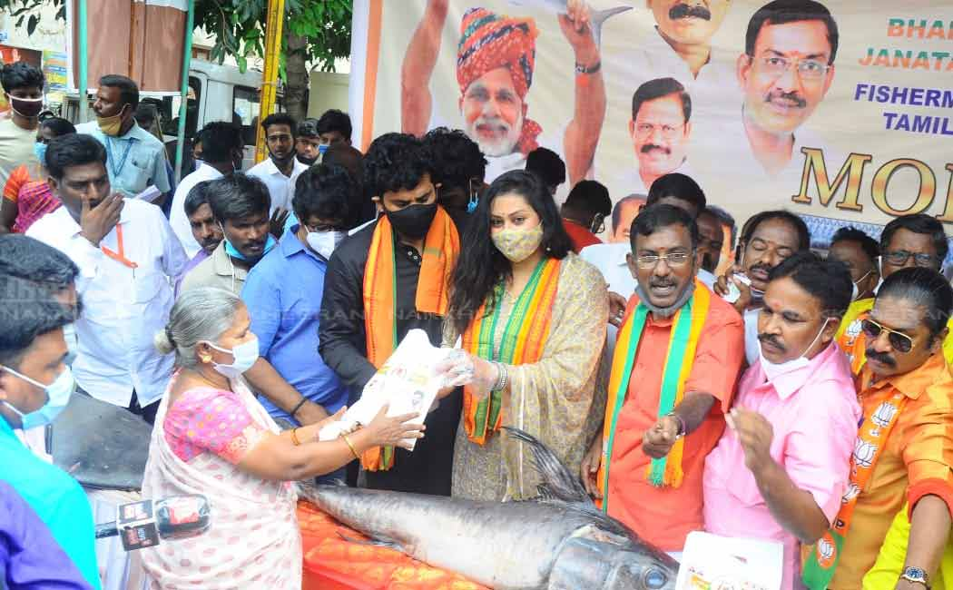 """It is a pleasure to participate in the BJP's public event"" - Namitha"