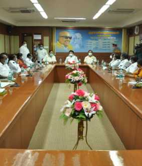 dmk mps meeting at chennai mk stalin tweet
