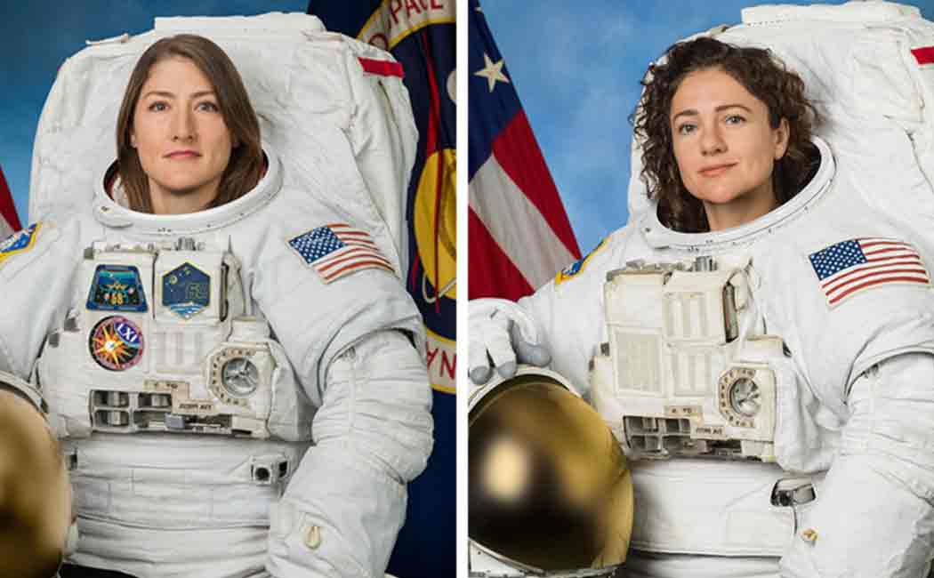 worlds first female spacewalk team