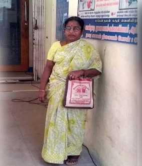 vellore district ambur vanara bank branch lady thief  police