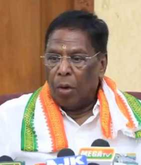 puducherry government floor test over cm narayanasamy