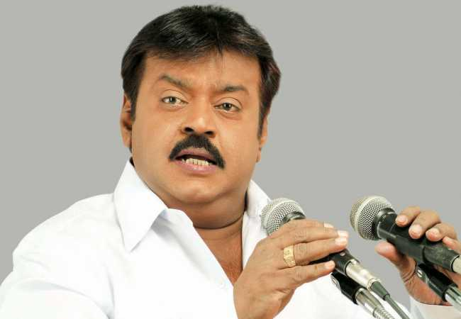 dmdk party vijayakanth corona positive admit at hospital