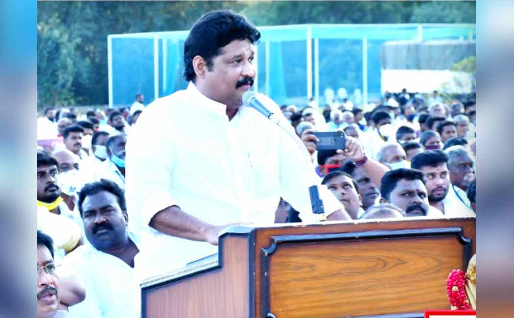 DMK MP gowthamasigamani speech at 'thamizhagam meetpom'