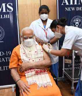 PM Modi takes 2nd dose of corona vaccine
