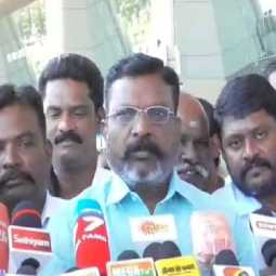 thirumavalavan mp pressmeet at madurai airport