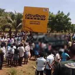 Freight vehicle accident near Trichy accident