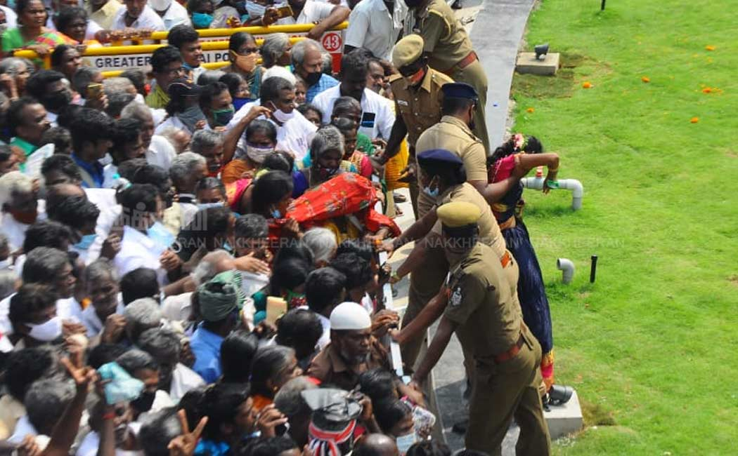 Jayalalithaa memorial opening ceremony crowded