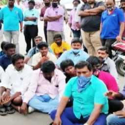 Fans in front of Rajinikanth's house