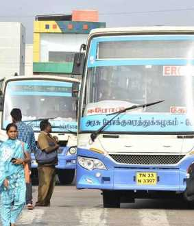 Buses operated by temporary staff
