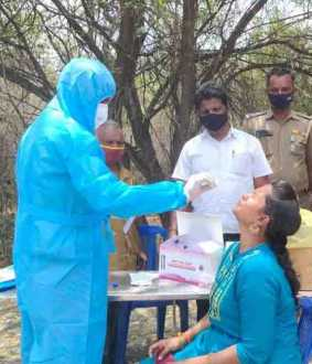 state border check post health department rt pcr test