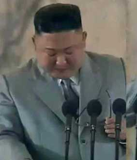 kim jong un cries at stage