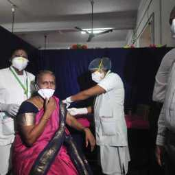 Corona vaccine rehearsal at Trichy Government Hospital ...