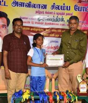 chilambattam competition Prizes for the winners in thiruvannamalai district