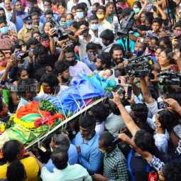 Actress Chitra's funeral