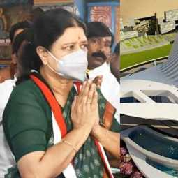 sasikala visiting jayalalitha memorial at merina