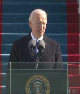 us president swearing ceremony at Washington joe biden speech