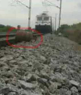 Youth on railway track to earn in YouTube!