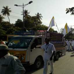 Puducherry alcohol and meat protest rally