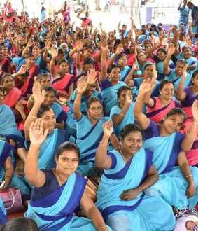 Anganwadi workers and physically challenged  struggles on endless