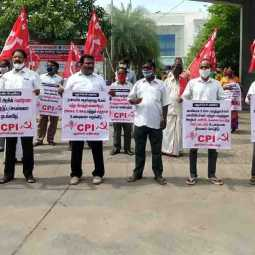 Puducherry and Karaikal CPI Demonstration - CORONA ISSUE