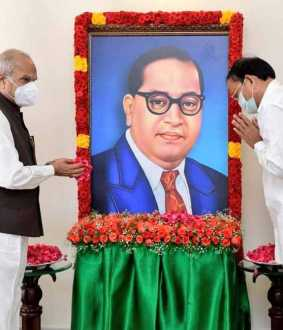 Dr. BR Ambedkar tributes vice president and tamilnadu governor