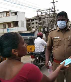 without mask peoples tamilnadu police