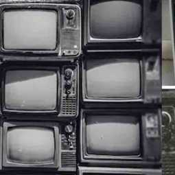 Old black-and-white TV