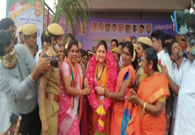 ACTRESS AND BJP LEADER KUSHBOO PUDUKKOTTAI PARTY FUNCTION