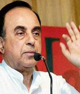 Subramanian Swamy-indian Indian money issue