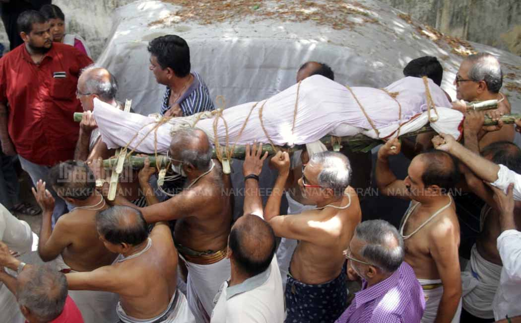 crazy mohan Funeral photos