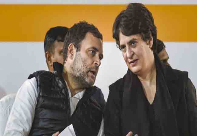 delhi chalo farmers police congress party rahul and priyanka gandhi tweets