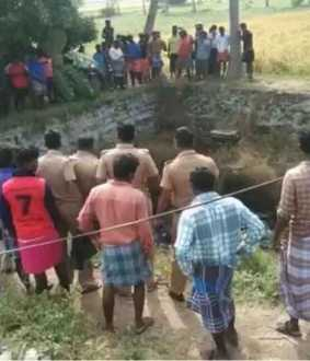 Male corpse floating in well near Veppur! Murder ... Suicide ...