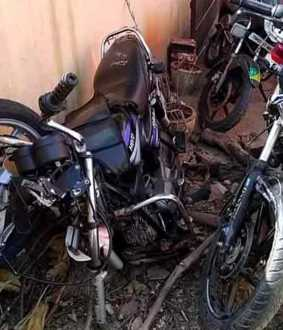 Two wheeler accident three passes away
