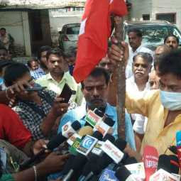 DMK should reject the CITU  union .. Traders union  request in Trichy