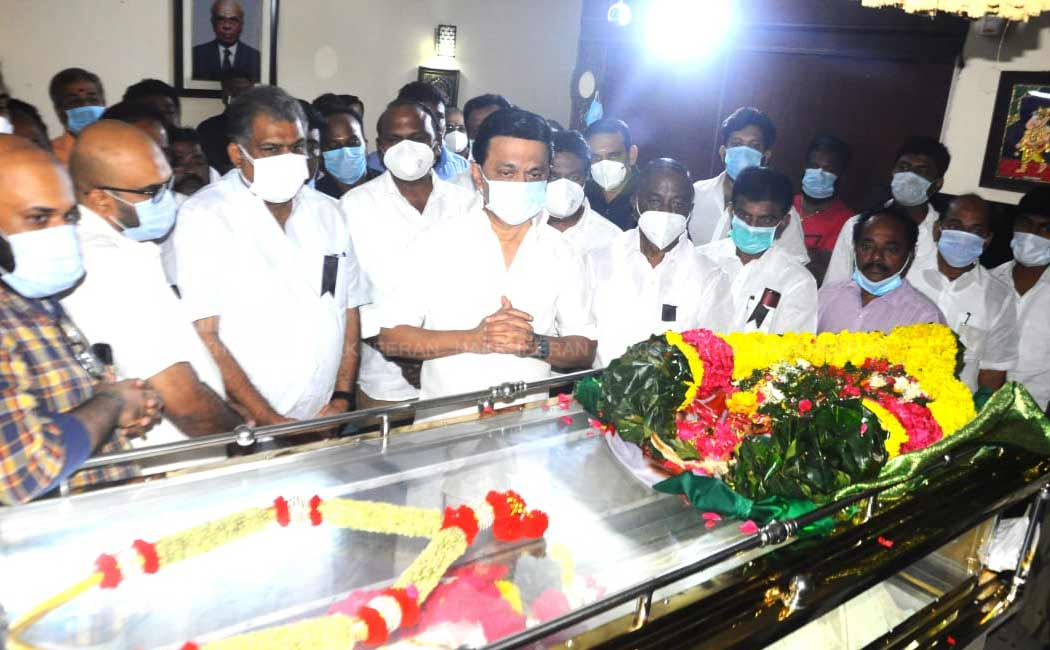 M.K.Stalin pay Tribute to B.S.Gnanadesikan