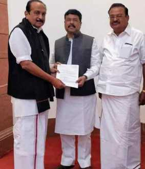Vaiko petition to Union Minister