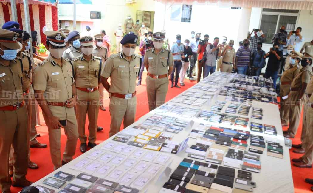 1,193 stolen mobile phones handed over to the owners ..!