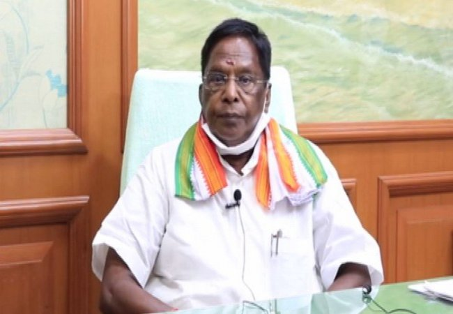 congress party meeting cm narayanasamy speech
