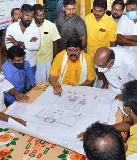 Rajagopuram for Shiva temple in Sivakasi! -Minister KD Rajendrapalaji and Chief Sthapati inspect!