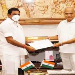 tamilnadu cm palanisamy meet with governor for tomorrow