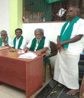Ayyakkannu, the leader of the agricultural union, condemns VM Singh !!