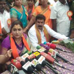 'I came out of the party because there is no security in DMK' '- Khushbu's sensational speech in Trichy!