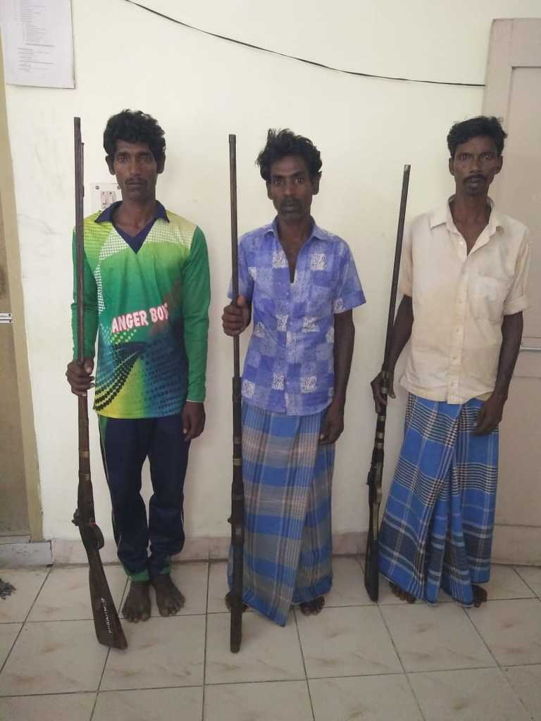 The Vellore district of counterfeit gun?