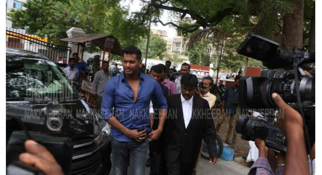 Vishal in court